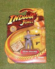 """INDIANA JONES CARDED 3.75"""" KINGDOM OF THE CRYSTAL SKULL IRINA SPALKO"""