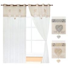 Tende porta finestra interno coppia 2pz più misure moderne tessuto shabby chic