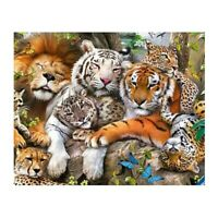 Full Square Diamond DIY Diamond Painting Tiger and Lion Embroidery Cross St V5W1