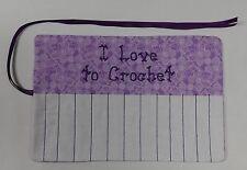 """I Love to Crochet"" Hook Holder Case Holds 13 Hooks Butterfly Print NEW A89"