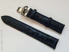 Leather Strap Watchband for Tissot PRS200 PRC200 T461 T067417A 19mm dark blue