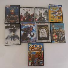 Jeux vidéos STROGHOLD GUILDWARS CRYOSTASIS MEDIEVAL ASSASSINS'S CREED