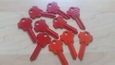 WK2 WESLOCK PowderCoated Red/Orange Colored Key Blanks (LOT of 10) FREE SHIPPING