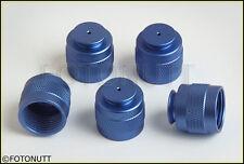 HPA/CO2 Paintball Tank Valve Thread Protector Cap Thread Savers BLUE 5pcs