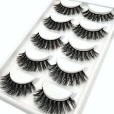 3D Mink False Eyelashes Wispy Cross Long Thick Soft Fake Eye Lashes 5 Pairs New
