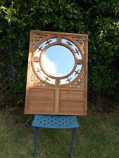 Antique/vintage Chinese mirror with carved wooden frame