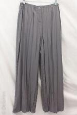 Babette SF Grey Quirky Artsy Lagenlook Crinkle Pleat Wide Leg Pants Sz S EUC