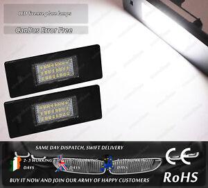 CanBus White LED License Licence Plate Light For BMW E87 E63 E89 Mini Cooper R55