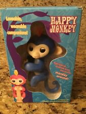 Electronic Interactive Fingerling Happy Monkey Finger Motion Pet Hot Toy - Blue