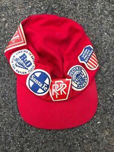 Vintage Railroad Hat Union Pacific Santa Fe L&N Southern Pacific Lines NYC Cap