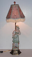 Antique- Carl Schneider, Germany Hard Paste Bisque Figural Lamp w/ Custom Shade
