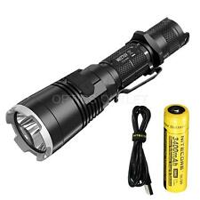 NiteCore MH27UV 1000 Lumen USB Flashlight w/ Red, Blue, UV LEDs w/ 3400mAh 18650