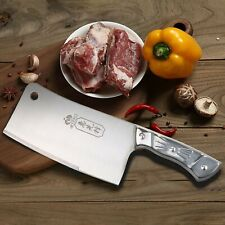 Kitchen 7 Inch Cleaver Knife Chopper Butcher Stainless Steel for Home Restaurant