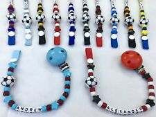 ⚽Personalised DUMMY CLIP ⚽12 Letter ⚽ FOOTBALL ⚽ 14 Colours ⚽ BUY 2 GET 1 FREE ⚽