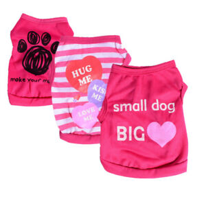 Girl Dog Tee Shirt Clothes Pet Apparel Clothing Small for Cat Yorkshire Terrier