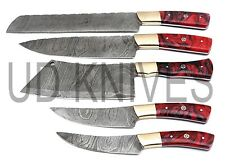 UD KNIVES HANDMADE FIXED BLADE DAMASCUS ART CHEF KNIFE KITCHEN SET 10680