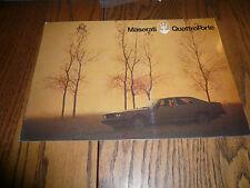 Maserati Quattro Porte Sales Brochure - German Text