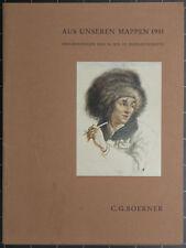 C. G. Boerner. Aus unseren Mappen 1981. Zeichunungen des 16.-19. Jahrhunderts.