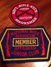 National Rifle Association Affiliated Junior Club Member Patch & Marksman