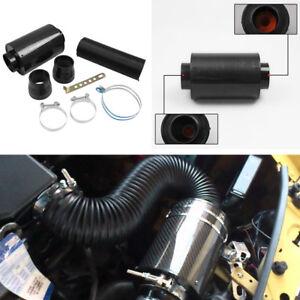 Carbon Fiber Racing Car Air Filter Box Cold Air Intake System Accessories Kit