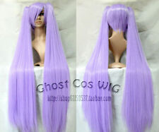 Lucky Star Long Fashion Purple Straight Cosplay Wig WIth Two Clip Ponytails z804