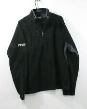"""PING  Collection Golf TOYOTA 1/4 Zip Fleece EMBROIDERED """" L Black  """""""