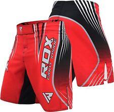 RDX MMA Entrenamiento Pantalones Cortos Kickboxing Grappling Lucha Jaula Gimnasio Desgaste de fitness para hombre