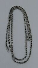 """750 18K Solid White Gold 1.75mm Wheat Chain Necklace 16.5"""" (5.17g)"""