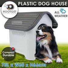 Pet Dog Kennel Weatherproof Plastic Outdoor Indoor Puppy Garden House Medium AU
