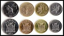 ZAMBIA 4 Coins set  world coins lot Africa wild animals new UNC