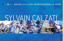 CYCLISME  carte cycliste SYLVAIN CALZATI équipe AG2R 2008
