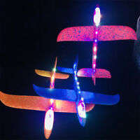 Led Hand Throw Airplane Outdoor Foam Launch Glider Plane Kids 48cm Gift Toys