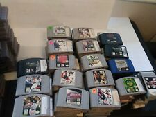 Lot Of 180 N64 Sports Games WWF BASEBALL SKATE BOARD FOOTBALL NBA MORE RACING