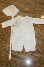 """One Small Child """"Michael"""" Newborn Boy Christening Blessing 2 piece outfit"""