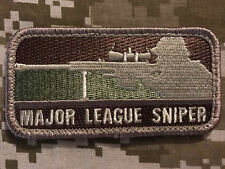 MAJOR LEAGUE SNIPER USA ARMY MORALE MILITARY TACTICAL BADGE ARID HOOK PATCH
