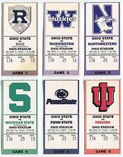 College Football Ticket Ohio State Buckeyes 1993 Home Game Set