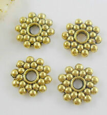 Free Shipping Wholesale 50Pcs Tibetan Gold Spacer Beads For Jewelry 8x8mm