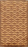 4'x6' Modern All-Over Gabbeh Oriental Area Rug Hand-knotted Wool Foyer Carpet