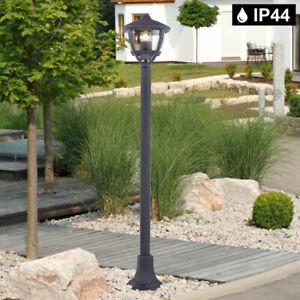 Außen Laterne ALU Stand Steh Leuchte anthrazit Garten Wege Lampe Hof Beleuchtung
