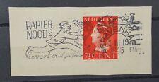 """Nederland (A3116) - stempelvlag """"Papier nood?"""" op NVPH 334"""