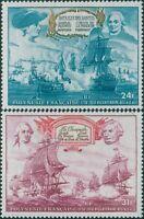 French Polynesia 1976 Sc#C128-C129,SG212-213 American Revolution set MNH