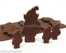 6+1/Gnome Elf Pixie Novità Cioccolato Stampo in silicone piatti da forno stampo TORTA DI CARAMELLE