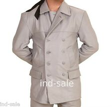Tailor Made All Size Blazer Coat 100% Leather German Submarine UBoat WW2 Style