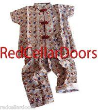 New Adorable TODDLERS BABY Sz 2T Teddy Bear Pajaas 100% Silk Short Sleeve 2pc Se