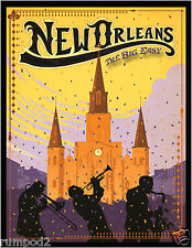 New Orleans Jazz Poster/The Big Easy/Travel Poster