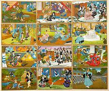 Art Decò Japanese Samurai Giappone - Serie Set 12 Cartoline - ST137