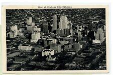 Vintage 1947 RPPC ~ REAL PHOTO Postcard ~ OKLAHOMA CITY, OKLAHOMA Aerial View