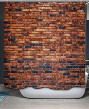 Brick Wall Shower Curtain Fabric w. Hooks 70x70