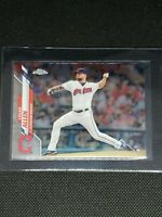 2020 Topps Chrome LOGAN ALLEN RC #155 Cleveland Indians ROOKIE CARD