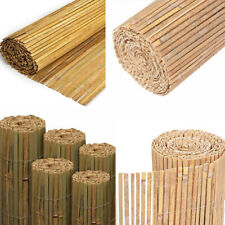 New listing 4M Slatted Fence Panels Bamboo Slat Screening Natural Garden Privacy Screen Roll